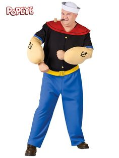 adult plus size popeye costume popeye halloween costumehomemade halloween costumesspirit
