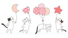 Find Draw Vector Illustration Set Cute Cat stock images in HD and millions of other royalty-free stock photos, illustrations and vectors in the Shutterstock collection. Gato Doodle, Doodle Art, Doodle Cartoon, Chat Kawaii, Image Chat, Cat Drawing, Cartoon Styles, Cat Art, Easy Drawings