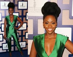 Teyonah Parris Dazzles in Green at ESSENCE Black Women in Hollywood Luncheon