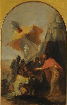 Aparición de San Isidoro a Fernando III el Santo (boceto). buenos aires
