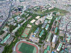 aerial view of Kyungpook National University, Daegu, Korea