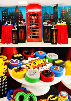 "Amazing ""Calling All Superheroes"" Birthday Party // Hostess with the Mostess® Superman Birthday Party, Avengers Birthday, Batman Party, 3rd Birthday Parties, Boy Birthday, Birthday Ideas, Festa Pj Masks, Villains Party, Superhero Baby Shower"