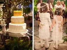Skip the cake, I love the flower girls.