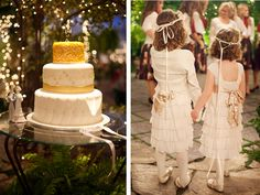 Skip the cake, I love the flower girls.