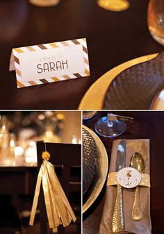 """Sparkle & Shine"" Metallic Dinner Party {with FREE Printables!}"