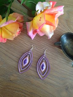 handmade paper quilled earrings