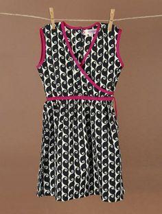 Ethno Overlap Cotton Dress for Girls