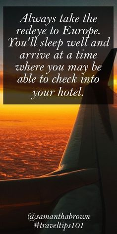 The redeye is the only way to fly internationally! #travel #traveltips101