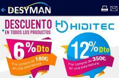 Descuentos en todos los productos Hiditec