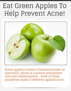 Eat Green Apples To Help Prevent Acne!