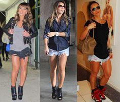 sabrina sato look - Pesquisa Google Sabrina Sato, Shirt Dress, T Shirt, Street Style, Jeans, Fitness, Summer, Dresses, Fashion