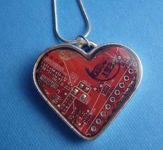 Heart circuit pendant.