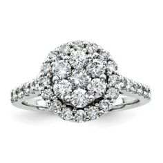 Composite round engagement ring with halo