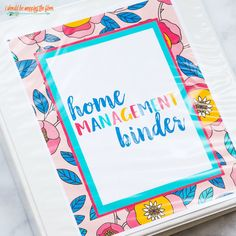 i should be mopping the floor: Free Home Binder Printables