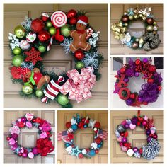 A personal favorite from my Etsy shop https://www.etsy.com/listing/176764066/package-of-4-custom-wreaths-you-choose