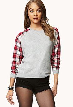 Fresh Plaid Sweatshirt   FOREVER21 - 2073080772