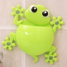 2 pieces Cute gecko bathroom wall suction toothbrush toothbrush holder suction cup cartoon series / Suction Hook