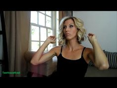 ▶ How I Curl My Hair - YouTube - easy messy curls for shoulder length hair