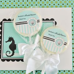 Personalized Lollipop Favors - Beach Party created by Event Blossom. Edible Wedding Favors, Beach Wedding Favors, Personalized Wedding Favors, Party Favors, Party Wedding, Got Party, Party Party, Bridal Shower, Baby Shower