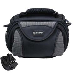 Canon VIXIA HF R300 Camcorder Case Camcorder and Digital Camera Case - Carry Handle & Adjustable Shoulder Strap - Black / Grey - Replacement by Synergy