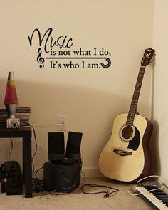 BIG Music is not what I do It's who I am Vinyl Wall by 7decals, $22.99 #Christmas #thanksgiving #Holiday #quote