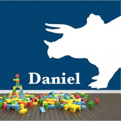 Dinosaur Name removable wall sticker decal