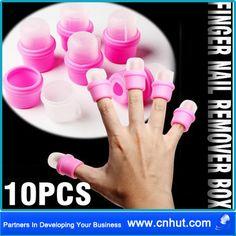 10 x Wearable Salon DIY Nail Acrylic UV Gel Polish Remover Soak Soakers Cap Tool(China (Mainland))