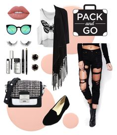 """""""Traveling to Mexico"""" by katestyls02 on Polyvore featuring Smith & Cult, WithChic, Soaked in Luxury, Lime Crime, Bobbi Brown Cosmetics, Kate Spade, Quay and Karl Lagerfeld"""
