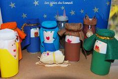 Tutoriel détaillé pour réaliser une crèche en recup de bouteilles de yaourt à boire (actimel par exemple) - nativity scene with yoghurt bottles