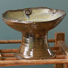 Hand spun and glazed by our American Artisan - Tena Payne. Loving this beautiful Cahaba Pedestal Bowl!!