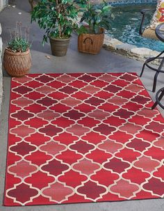 Red Eden Outdoor Area Rug