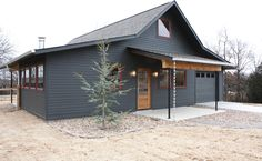 Metal Building Homes Exterior Farmhouse with Cottage Dark Paint Farmhouse