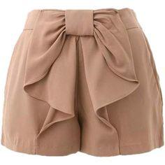 Nude shorts--Where can I buy these? Bow Shorts, Mini Shorts, Cute Fashion, Fashion Pants, Fashion Dresses, Women's Fashion, Chic Outfits, Kids Outfits, Fashion Clothes
