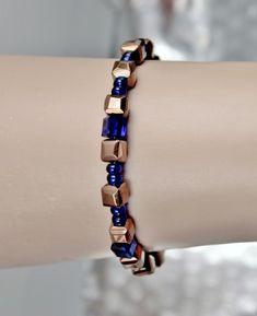 Krystall og kobber armbånd