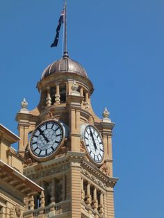 Clock tower at the station in Sydney