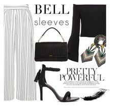"""""""Street Style Trend: Bell Sleeves"""" by fattie-zara ❤ liked on Polyvore featuring Topshop, Bardot, Joie, DKNY, Tory Burch and bellsleeves"""