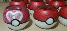 Pokemon wedding centerpieces. Pokeballs.