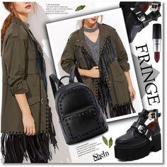 fringe by svijetlana on Polyvore featuring moda, MAC Cosmetics, fringe and shein