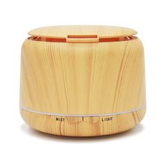 Aroma Diffuser, LIDUO 250ml Essential oil Diffuser Electric Ultrasonic Humidifier Aromatherapy Cool Mist Electronics for Home, Yoga, Office, Spa, Bedroom, Baby Room, 7 Color LED lights and Timer Settings, Whisper-Quiet - Yellow Wood Grain: Amazon.co.uk: Kitchen & Home