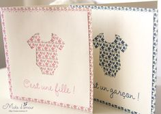 Faire-part de naissance Romance « Mots d'amour – Blog mariage – Blog faire-part et papeterie Faire Part Invitation, Invitations, New Baby Girls, Crafty Projects, Baby Cards, Creative Cards, Greeting Cards Handmade, Best Part Of Me, Diy For Kids