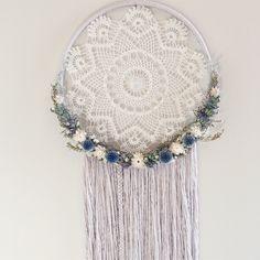 Extra Large Dreamcatcher | Floral Dream catcher | Wallhanging | Boho | Fiber Art | Macrame https://www.etsy.com/ca/listing/494778366/extra-large-dreamcatcher-floral-dream