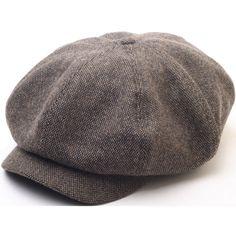 N124 8 Panel Homespun Harris Donegal Tweed Pattern Fabric Newsboy Cap  Gatsby Hat  52295bfac821e