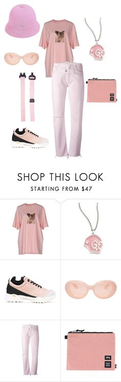 """💞"" by pheebsami ❤ liked on Polyvore featuring Misbehave, Gucci, Alyx, Acne Studios, Herschel Supply Co. and kangol"