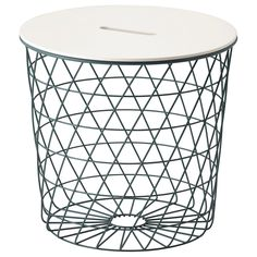 We love that you can use this storage basket as a table.Ikea Kvistrbro Storage Table, $49.99, available at Ikea.  #refinery29 http://www.refinery29.com/ikea-furniture#slide-2
