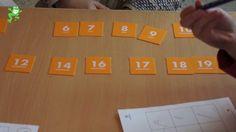 Uitleg van het spel 'Burenbingo'. Doel: leren tellen vanaf een willekeurig getal in heen- en terugwaartse richting.