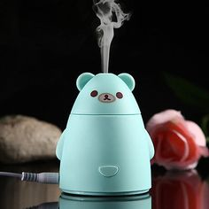 80-Ml-Lindo-Panda-en-forma-de-Aroma-Difusor-Purificador-De-Aire-Led-Usb-Humidificador-Ultrasonico