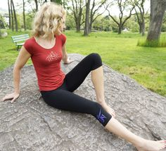 Our Capri Length Leggings and Bamboo Cap Sleeve Tee. Perfect for Practice, Fabulous for Casual Wear ! http://squeezed.ca/shop/category/capri-length-leggings