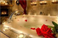 Romantic Bath Ideas, Romantic Bubble Bath Ideas for Couples Romantic Things, Romantic Dates, Romantic Gifts, Romantic Ideas, Romantic Candles, Romantic Evening, Romantic Decorations, Romantic Dinners, Simple Things