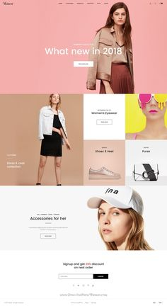 Manor is clean and modern design PSD template for stunning #fashion #store eCommerce #website with 10 unique homepage layouts and 28 layered PSD pages to live preview & download click on Visit