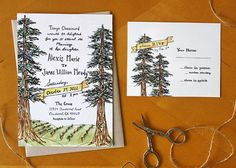A Northern Romance Hand Drawn Wedding by ReadyMakerDesign on Etsy, $89.00